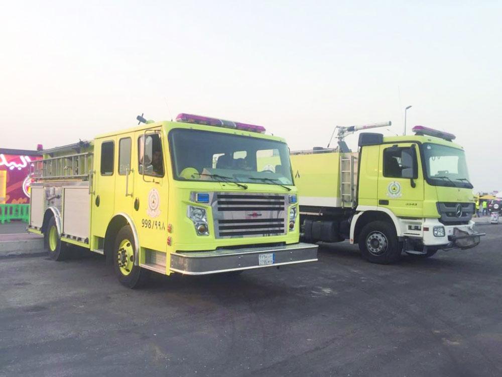 الدفاع المدني يستعرض آليات الطوارئ صحيفة مكة