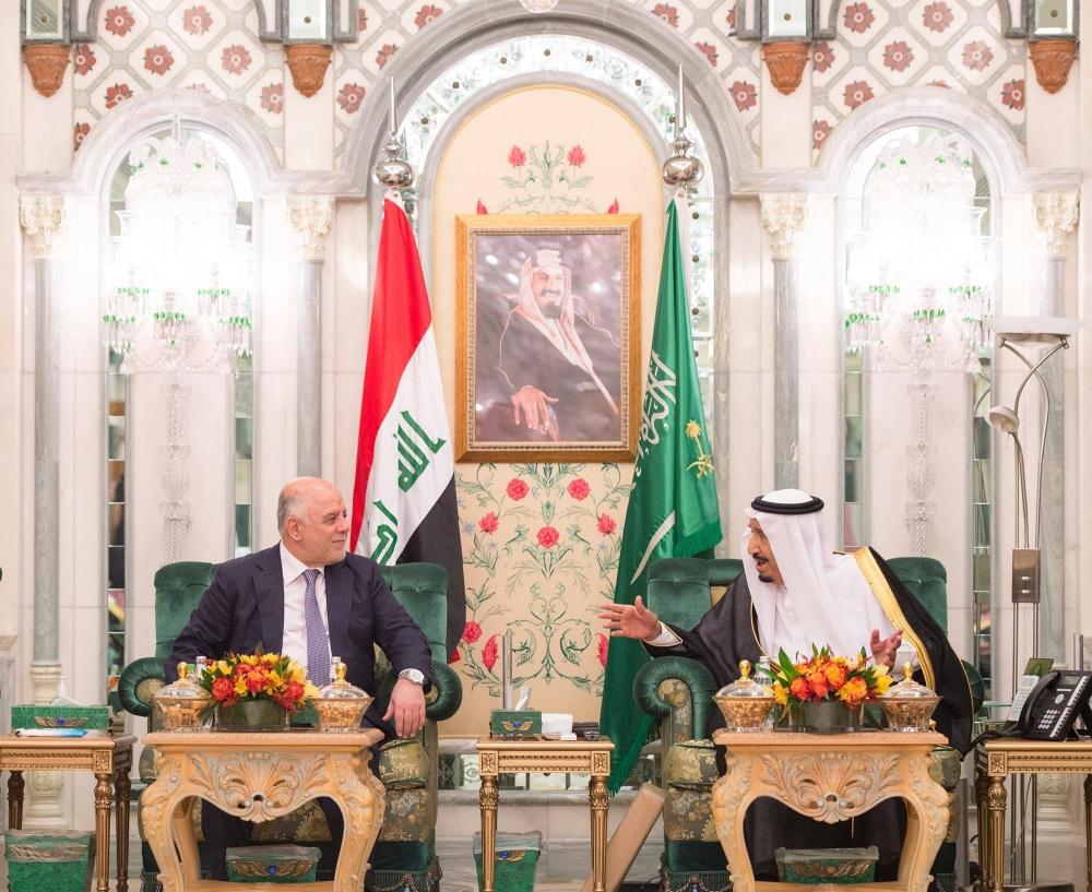 خادم الحرمين يبحث تطورات الأحداث مع رئيس وزراء العراق - صحيفة مكة