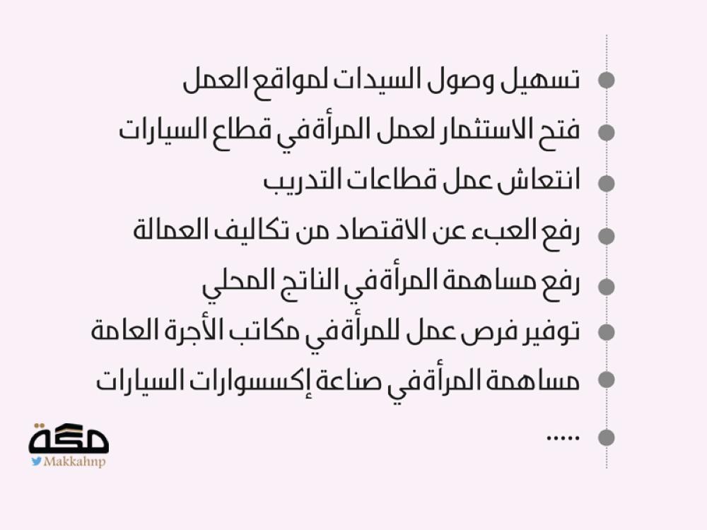 16 فائدة لتمكين المرأة من القيادة صحيفة مكة