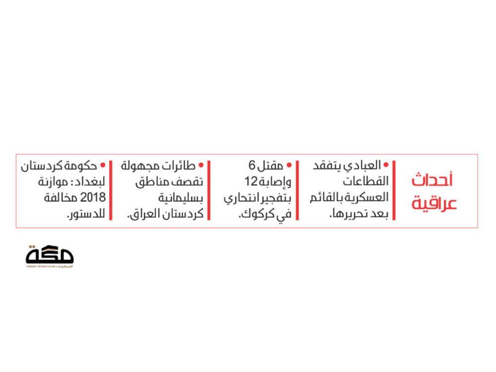 العبادي يرفع العلم العراقي على منفذ حدودي مع سوريا - صحيفة مكة