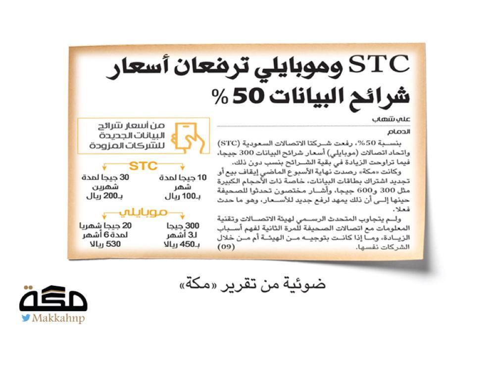 معاقبة شركات اتصالات تلاعبت بباقات الانترنت - صحيفة مكة