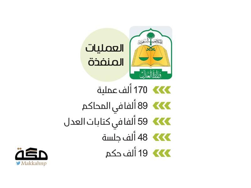 170 ألف عملية تنفذها المحاكم في أسبوع - صحيفة مكة